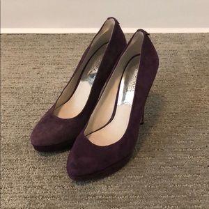 Size 8 purple suede Michael Kors heels